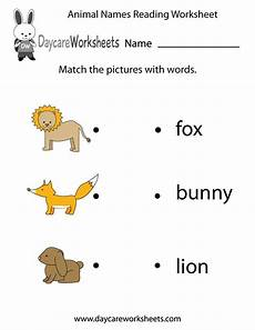 animal reading worksheets 14021 preschoolers to match animal images with words in this free reading worksheet the animals