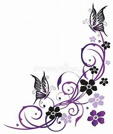 summer flowers with butterflies stock vector