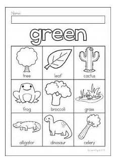 printable worksheets on colors 13003 green color concept kindergarten colors learning colors teaching colors