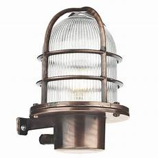 nautical industrial style garden wall light solid brass copper finish