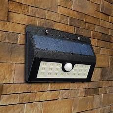 300lm 20led solar powered pir motion sensor led wall light