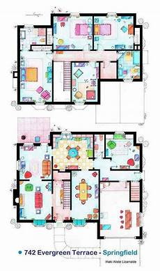simpsons house floor plan the simpsons house with images tv show house floor