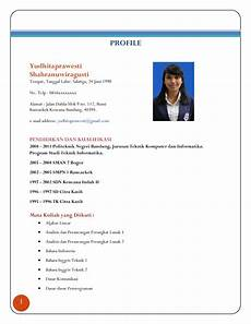 contoh curriculum vitae bahasa indonesia untuk mahasiswa ben jobs
