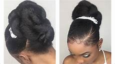quick easy bridal updo wedding hairstyle for black youtube