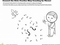 skip counting dot to dot worksheets 11902 connect the dots practice skip counting by threes worksheet education