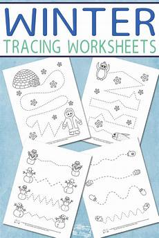 winter worksheets free 19926 winter tracing worksheets for itsy bitsy