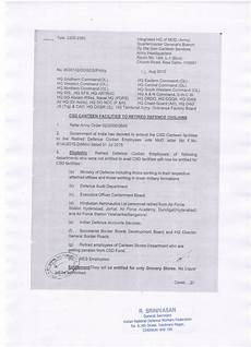 csd facilities for retired employees mod order with application forms central government
