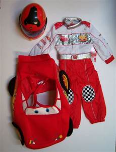 Costume For Cars by Cars Lightning Mcqueen Racing Suit Costume Xs 4 4t Helmet