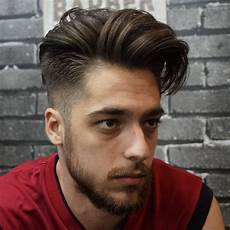 Mens Side Swept Hairstyle