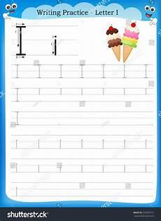 letter i handwriting worksheets for kindergarten 23501 writing practice letter printable worksheet preschool stock vector 232965151