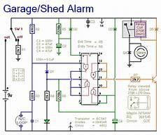 automatic garage shed alarm circuit diagram