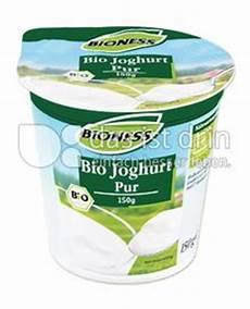 Rechtsdrehender Joghurt Aldi - bioness bio joghurt pur kalorien kcal und inhaltsstoffe