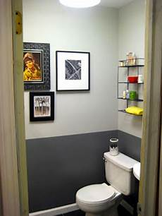 peinture wc gris anthracite et gris perle et touches jaune vif