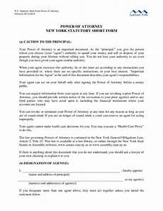 sle power of attorney statutory short form new york free download