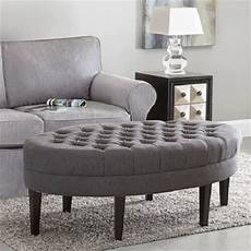 tufted cocktail ottoman fabric bench coffee table