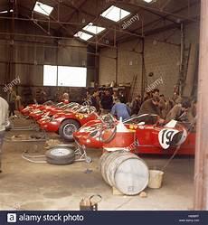 garage le mans 1963 250ps le mans garage stock photo royalty