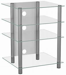 hifi rack glas vcm bilus hifi rack regal tisch alu glas klarglas