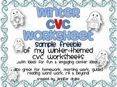 winter cvc worksheets 19980 winter cvc worksheet for centers morning work homework etc sler freebie