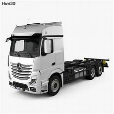mercedes actros chassis truck 3 axle 2011 3d model