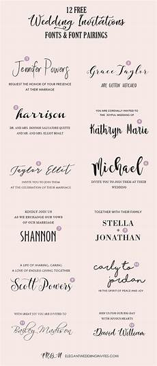 Best Font Combinations For Wedding Invitations