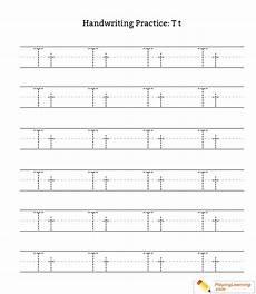 handwriting practice letter t free handwriting practice