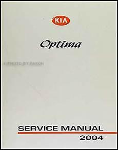manual repair autos 2004 kia optima on board diagnostic system 2004 kia optima repair shop manual original