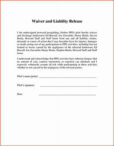 release of liability letter template exles letter cover templates
