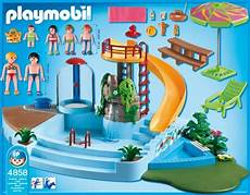 Playmobil Ausmalbilder Schwimmbad 4858 Open Air Pool With Slide Playmobil For
