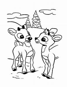 baby reindeer coloring pages and print for free