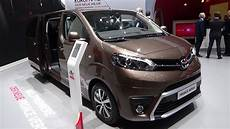 2017 toyota proace verso exterior and interior