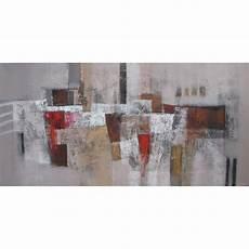 tableau abstrait panoramique grand format ton brun