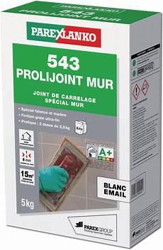 bretagne materiaux carrelage joint carrelage fin prolijoint m543 5kg blanc 233 mail r 233 f l543blanc05 parexlanko