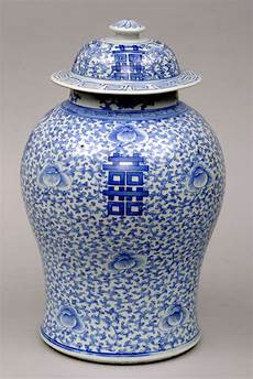 China Porzellan Antik - antique porcelain lidded vase circa 1800