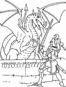 Malvorlagen Ritter Und Drachen Coloringkids Net