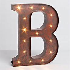 lone elm studios lighted metal letter 12 inch 92669a