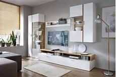 möbel wohnzimmer weiß skandinavische m 246 bel wohnwand olav wei 223 eiche inklusive