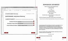 business entity power of attorney legal forms software