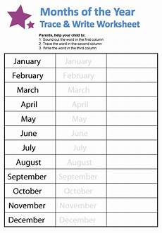 handwriting worksheets months of the year 21479 months of the year worksheets guruparents
