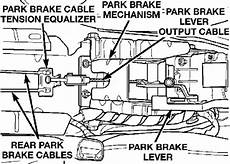 hayes car manuals 1997 infiniti i parking system how to replace front parking brake cable 2000 saab 42133 repair guides parking brake cable