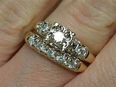 vintage wedding rings cute 1940s illusion head