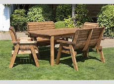 Hand Made Chunky Rustic Wooden Garden Chair Furniture With