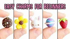 Easy Charms For Beginners 5 In 1 Polymer Clay Tutorial