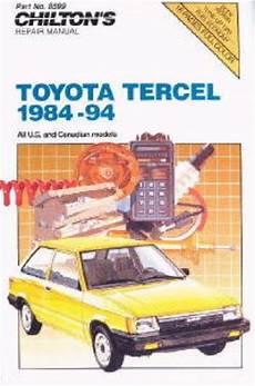 service repair manual free download 1992 toyota tercel parental controls chilton toyota tercel 1984 1994 repair manual