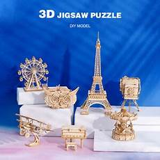 Newest Wooden Puzzle Assembly Gift Children by New Wooden 3d Puzzles Model Diy Kit Children