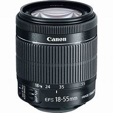 canon ef s 18 55mm f 3 5 5 6 is stm lens 8114b002 b h photo