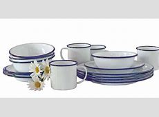 Crow Canyon Home Vintage Style Enamelware 16 Pc Starter