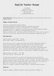 resume teacher of english exle resume sles english teacher resume sle