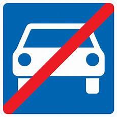 ende einer autobahn verkehrszeichen auf der autobahn verkehrszeichen der
