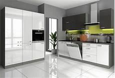 Günstige Küchen - k 252 che vario v 240 160 cm k 252 chenzeile in hochglanz weiss