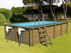 Piscine Hors Sol Bois Bwt Mypool Weva Rectangle 6x3 H133cm